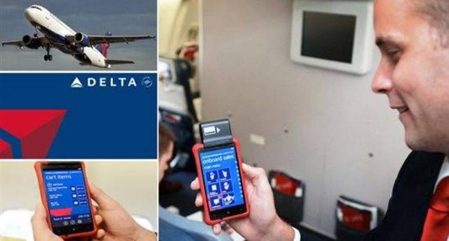 Delta Airlines' Nokia Lumia 820 running Windows Phone 8