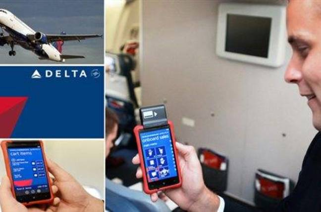 Delta Airlines' Nokia Lumia 820 running Windows Phone 8