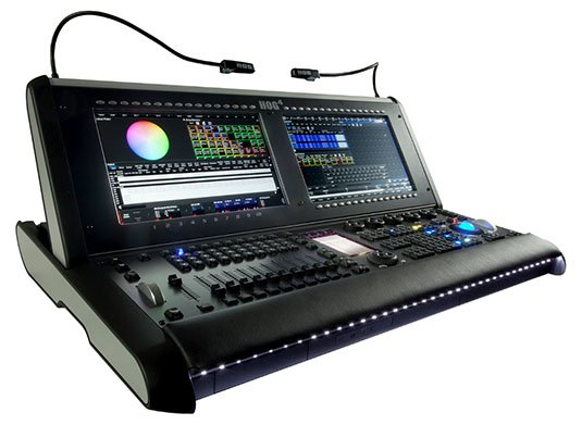 High End Systems Hog 4 lighting console featuring MIDI Show Control