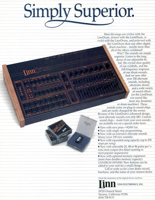 LinnDrum pre-MIDI beatbox