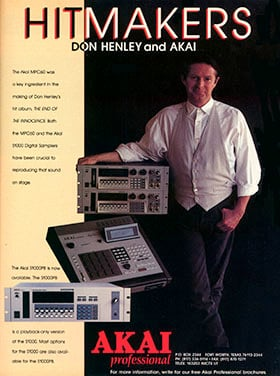 Akai MPC60 endorsed by Don Henley