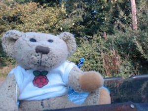Babbage poses for the webcam after his record-breaking jump