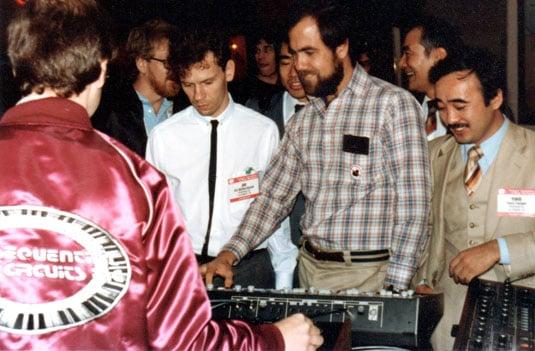 Dave Smith demos MIDI at the NAMM Show 1983