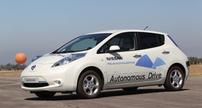 Nissan self-driving car