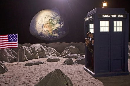 Doctor Who on the Moon