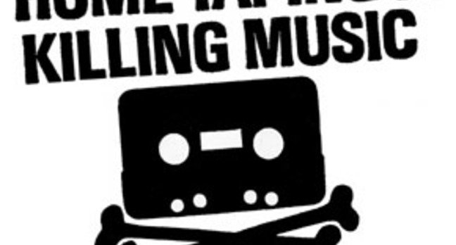 BPI campaign logo: Home taping is killing music