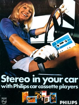 Philips in-car cassette player from 1971