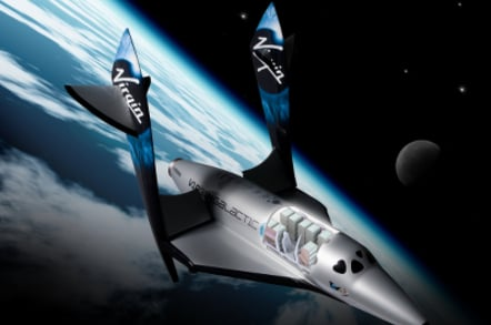 Artist's concept of Virgin Galactic SpaceShipTwo