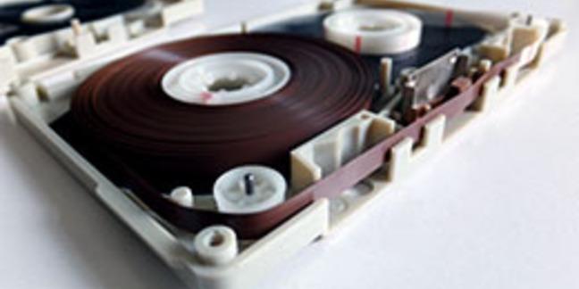 Cassette tape exposed