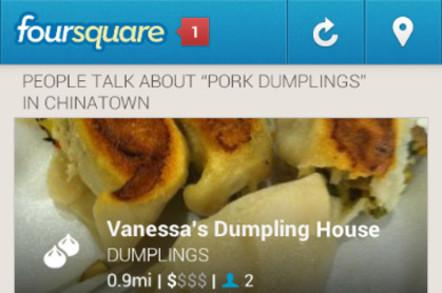 Foursquare screencap