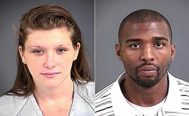 Shaun Ramone Bowden and Emily Craig in the North Charleston Police mugshots.