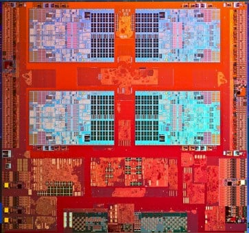 Die shot of the Avoton C2000 processor