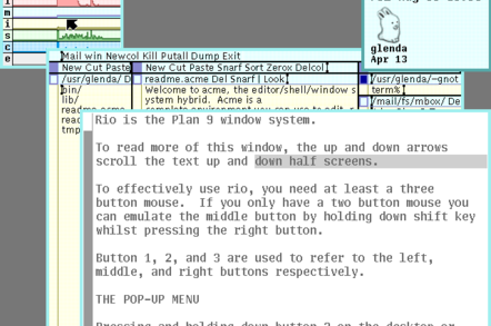 Plan 9 is... weird, and has almost no applications - but it shows a future direction for Unix-like OSes
