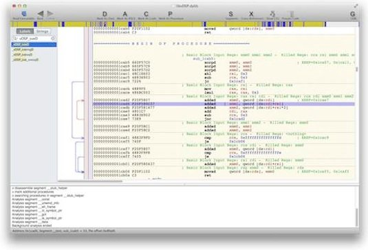 Screen shot of libvdsp open in Hopper