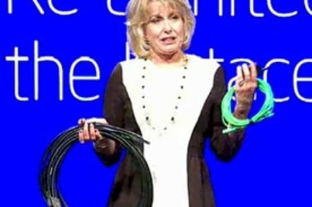 Data Center GM Diane Bryant weighing old and new cables
