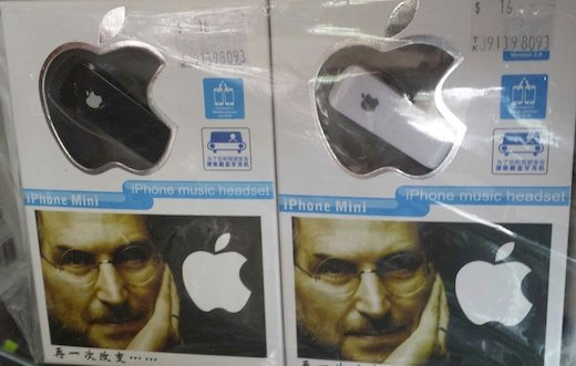 A fake Apple bluetooth headset