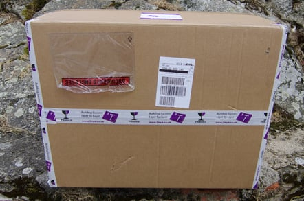 Ther unopened box containing our Vulture 2 spaceplane