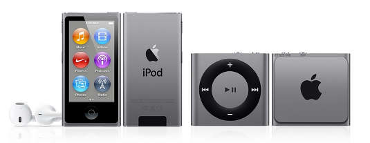 Apple iPods in new Space Gray color scheme