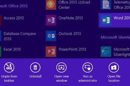 Pin to start in Windows 8.1