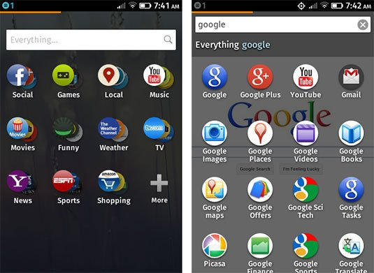 Screenshot showing Firefox OS app discovery