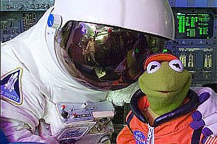 Photo of Kermit the Frog at NASA