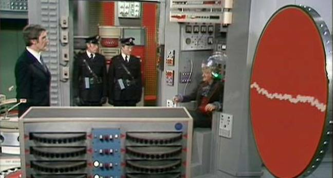 "Screenshot from Doctor Who serial ""The Green Death"""
