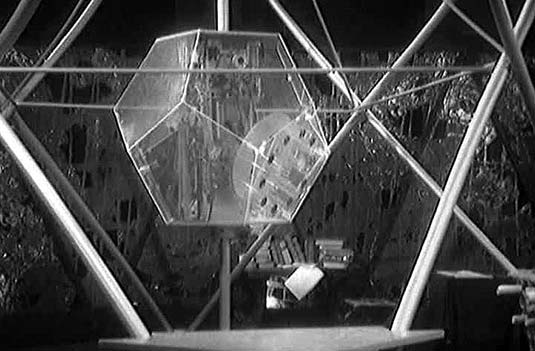 Screenshot from Doctor Who serial 'The Keys of Marinus'