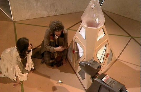Screenshot from Doctor Who serial 'The Armageddon Factor'