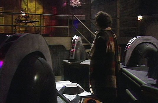 Screenshot from Doctor Who serial 'Underworld'