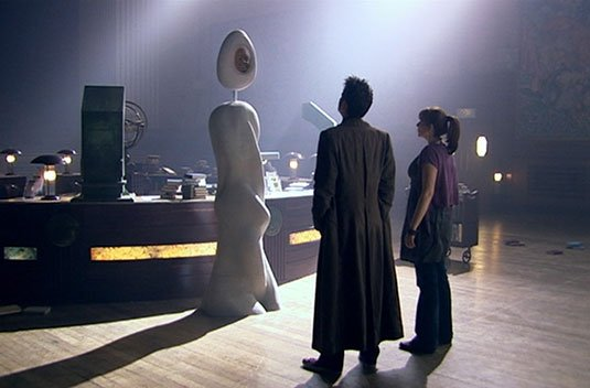 Screenshot from Doctor Who serial 'Silence in the Library'