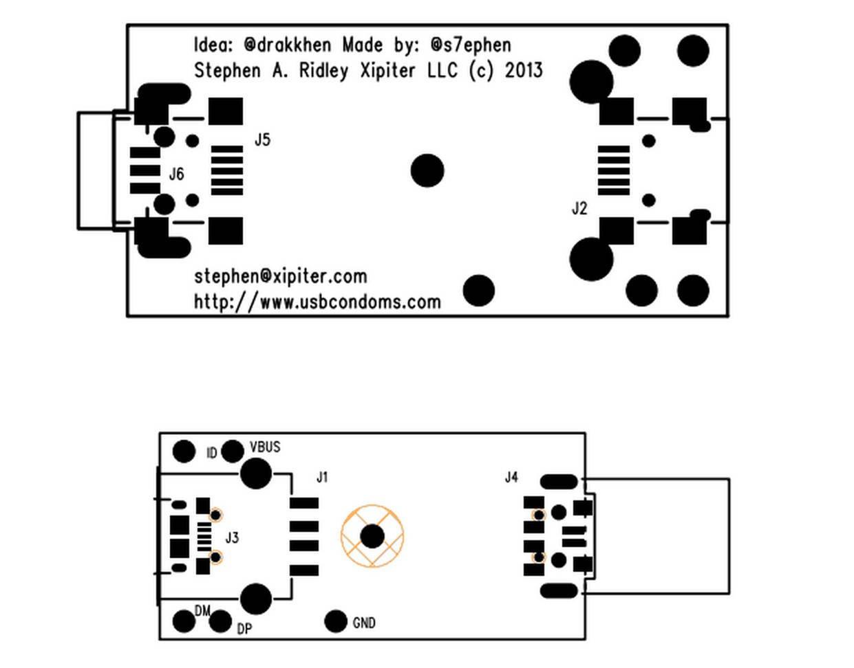The design of the USB Condom