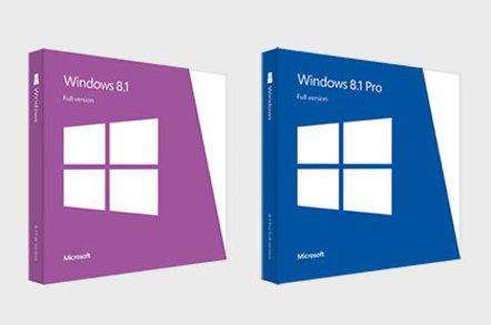 Windows 8.1 retail packaging