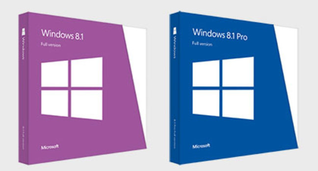 Windows 8.1 retail packaging