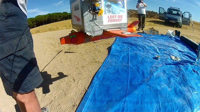 An image from the GoPro before the launch
