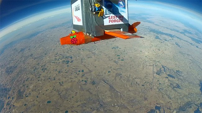 A view from the main payload GoPro