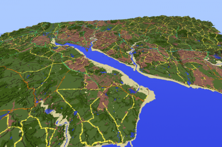 southampton water in Minecraft