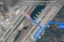 Fairbanks airport directions from Apple Maps