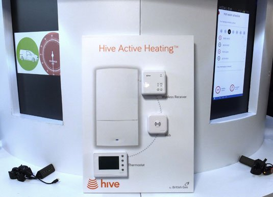 British Gas Hive app controls