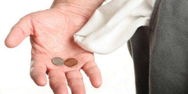 Broke - empty pockets