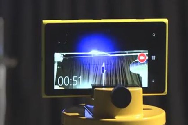 A Lumia 925 being plugged into a lightning bolt