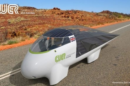Artist's rendering of Resolution in the Outback. Pic:  Cambridge University Eco Racing
