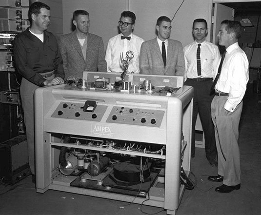 Emmy winners: Ampex team with VR1000 video recorder