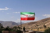 Iranian flag flying