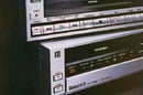 Toshiba Betamax and VHS video recorder ad