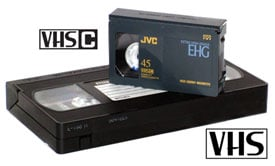 VHS and VHS-C tapes