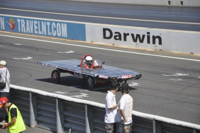 The University Malaysia Pahang team world solar challenge car