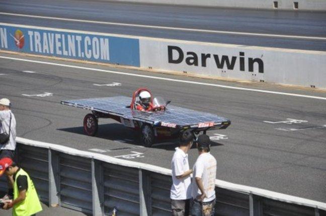 The University Malaysia Pahang team world solar challenge car