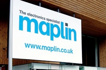 Maplin signage outside store