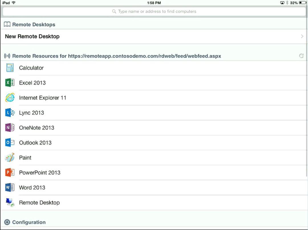 iPad RDP