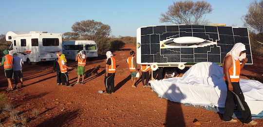 The desert camp struck by Colombia's EAFIT-EPM Solar Car Team